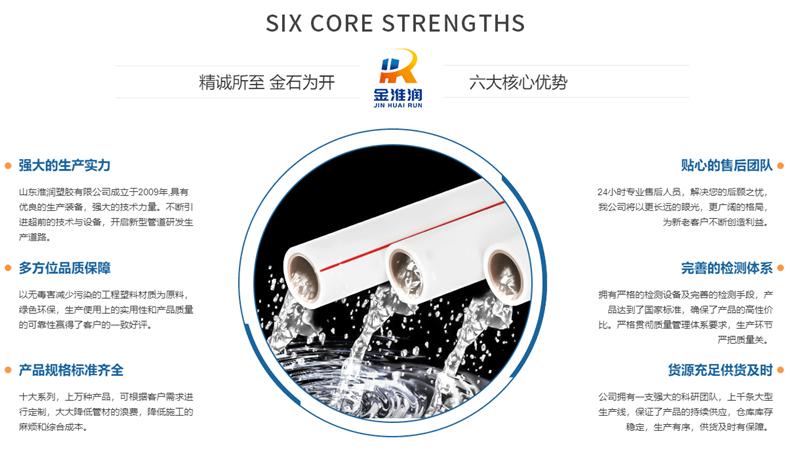 PPR冷热水管材厂家优势