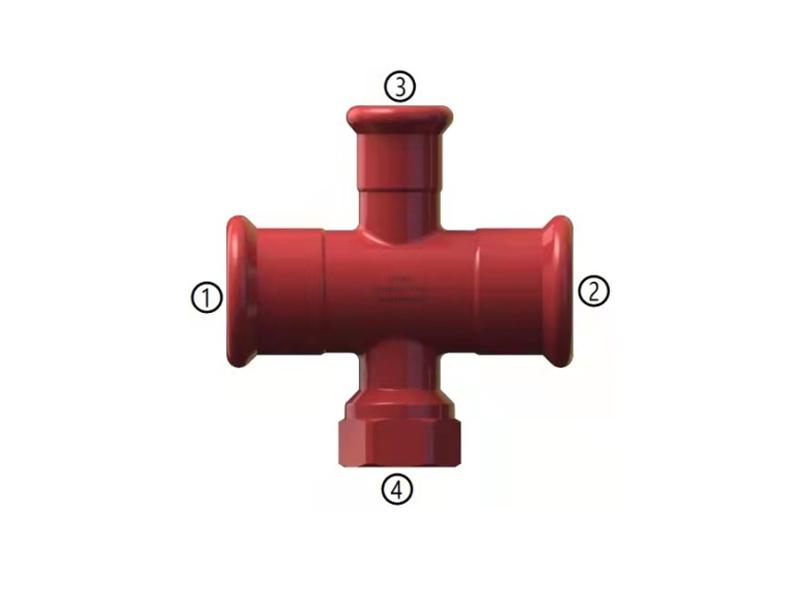 碳钢消防管道系统四通