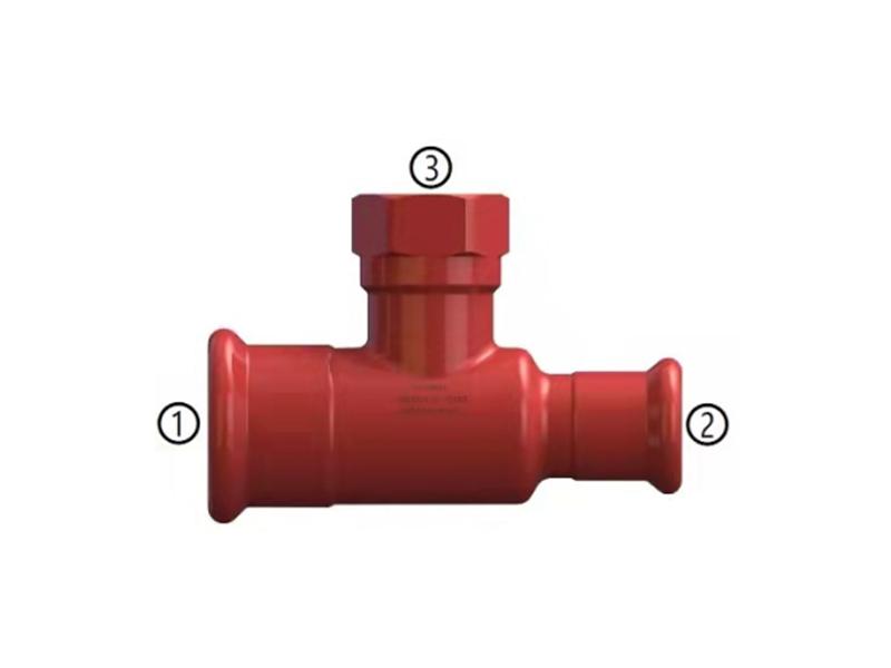 碳钢消防管道系统变径三通
